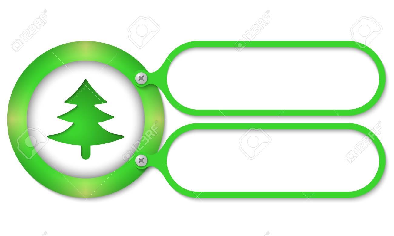 Marcos Verdes Y Símbolo Del árbol Ilustraciones Vectoriales, Clip ...