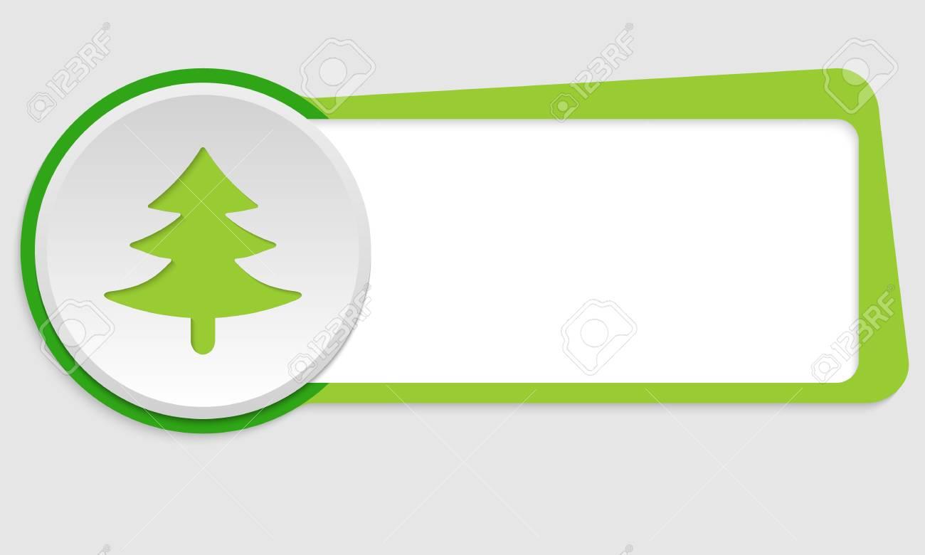 Marco Verde Para El Texto Y El árbol Símbolo Ilustraciones ...