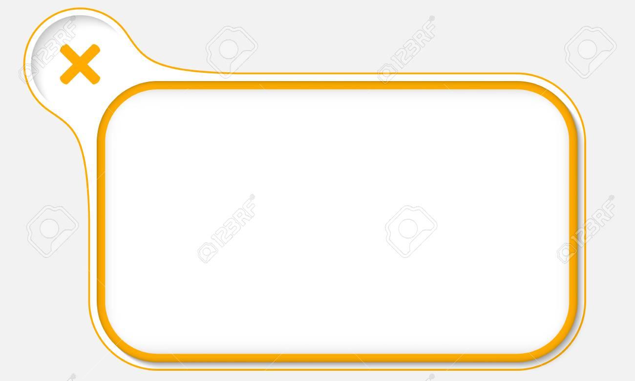 Gelber Rahmen Für Ihren Text Und Multiplcation Symbol Lizenzfrei ...