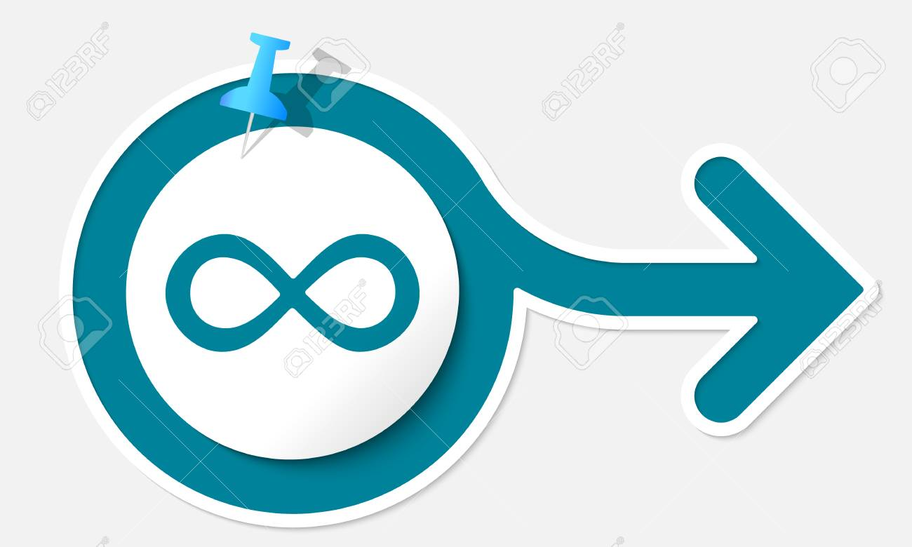 Abstract Arrow With White Frame And Infinity Symbol Royalty Free ...