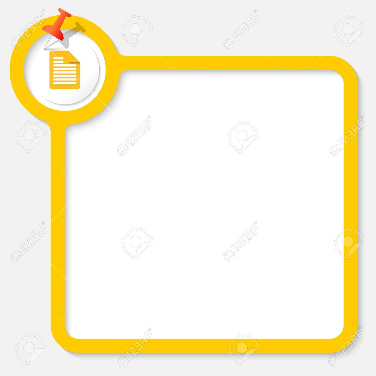 Gelber Rahmen Für Ihren Text Und Dokumentsymbol Lizenzfrei Nutzbare ...