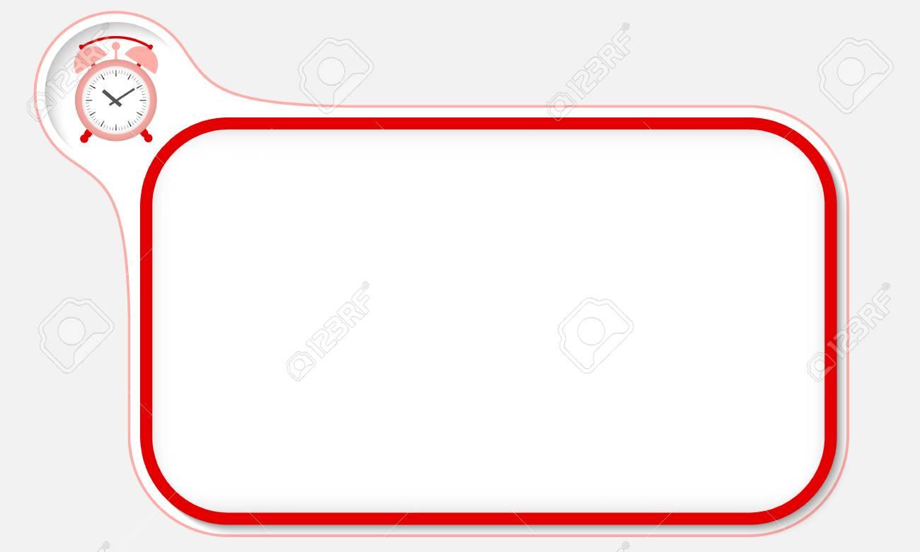 Roter Rahmen Für Ihren Text Und Wecker Lizenzfrei Nutzbare ...