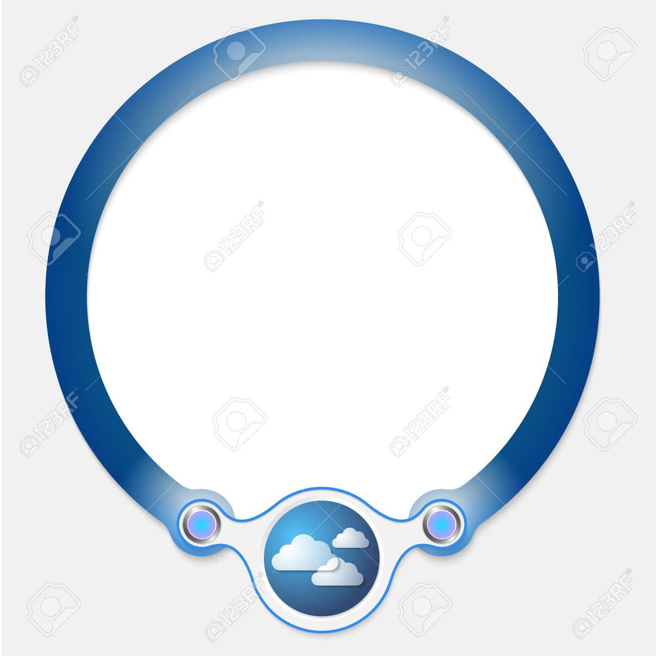 Blue circular frame for your text and cloud symbol royalty free blue circular frame for your text and cloud symbol stock vector 39876717 biocorpaavc Gallery
