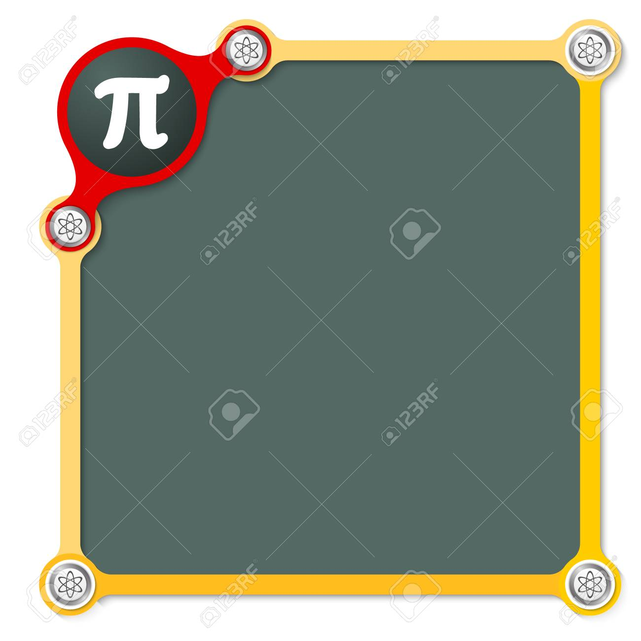Vector School Frame For Your Text And The Symbol Of Pi Royalty Free