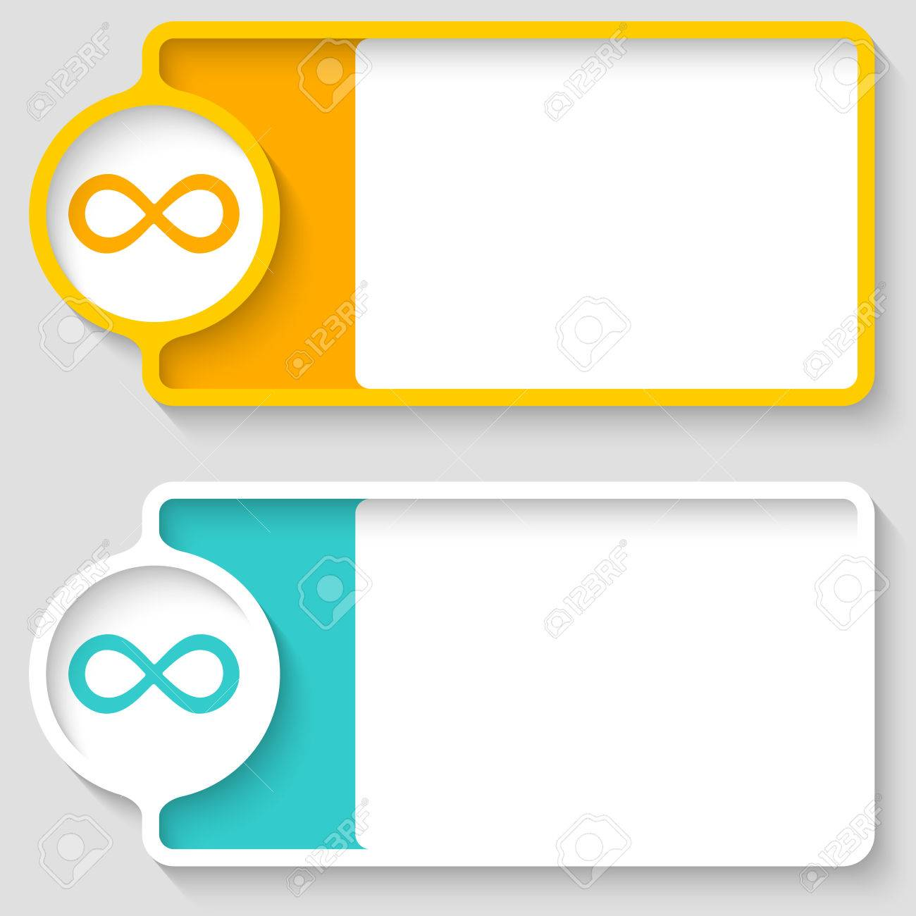 Colored boxes for your text and infinity symbol royalty free colored boxes for your text and infinity symbol stock vector 43250341 biocorpaavc