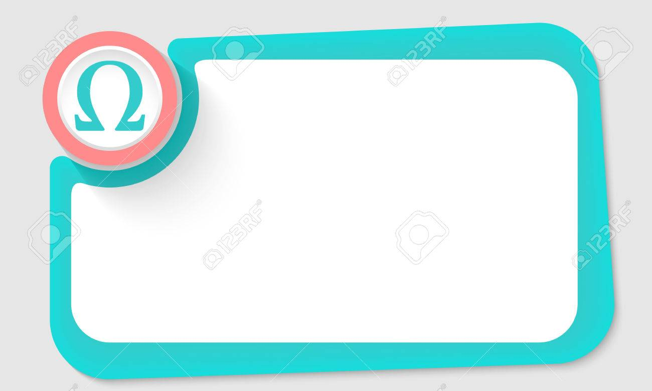 Pink Circle And Omega Symbol And Green Frame For Your Text Royalty
