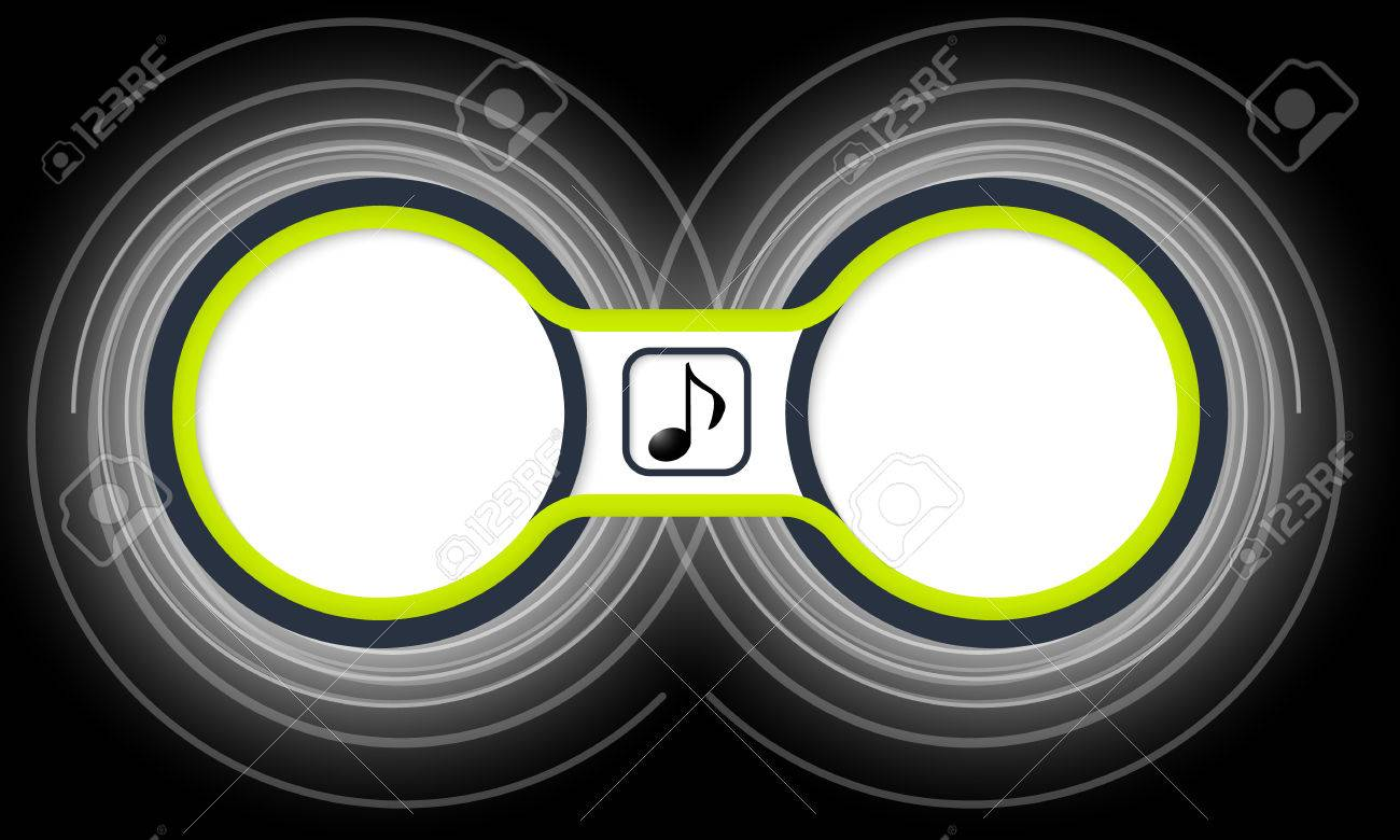 718065fb71d2 Two colored circular frames for your text and music symbol Stock Vector -  44862207