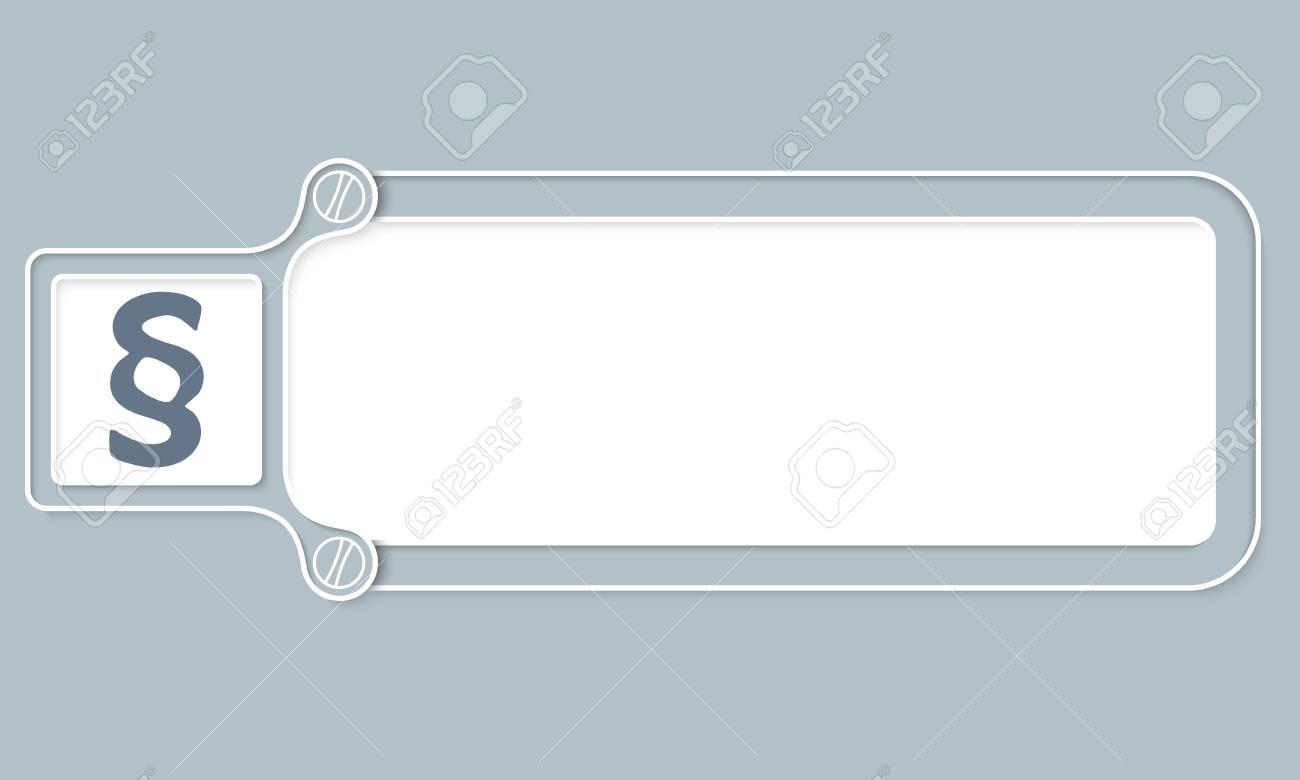 Grauer Kasten Mit Weißem Rahmen Für Ihren Text Und Absatz Lizenzfrei ...