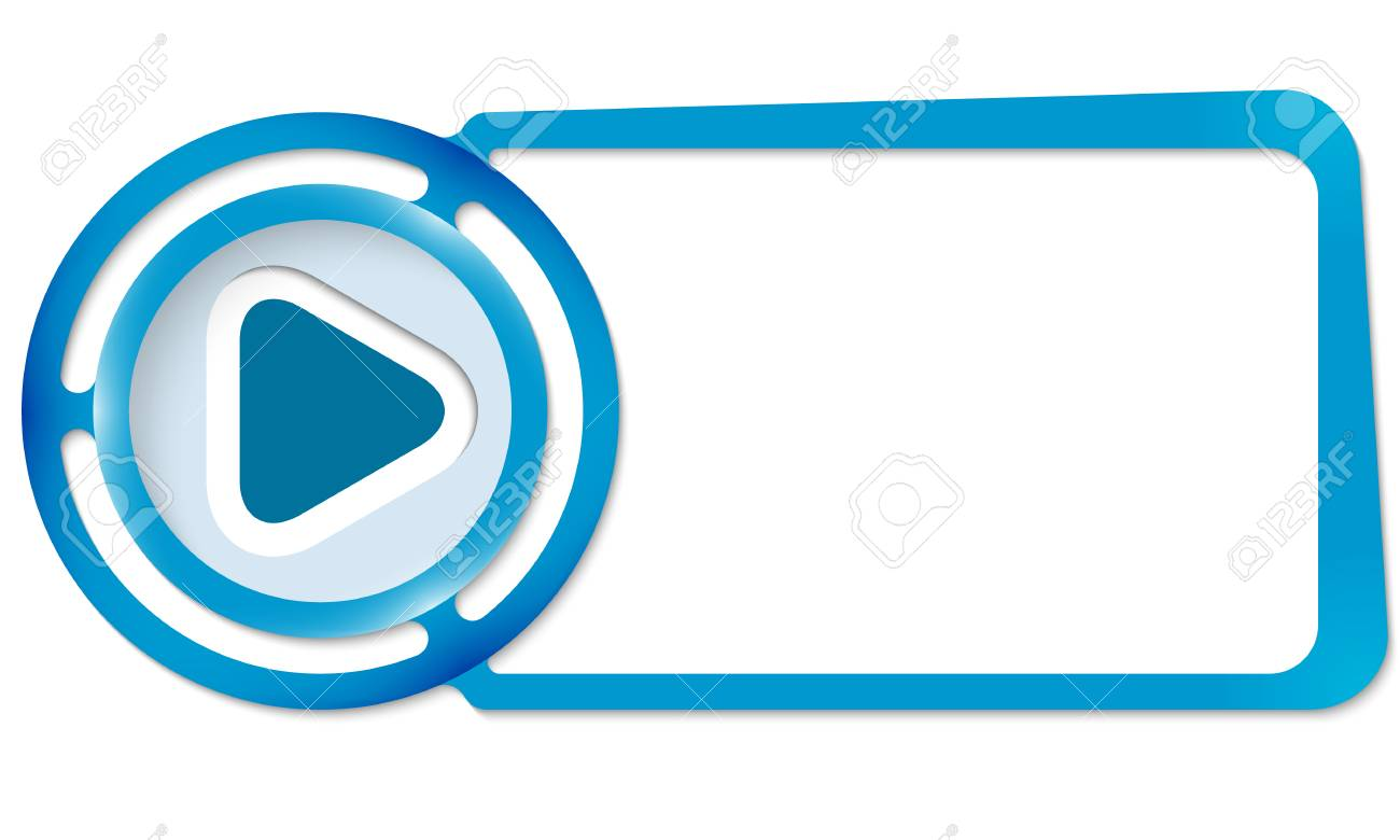 Abstract Frame For Your Text And Play Symbol Royalty Free Cliparts