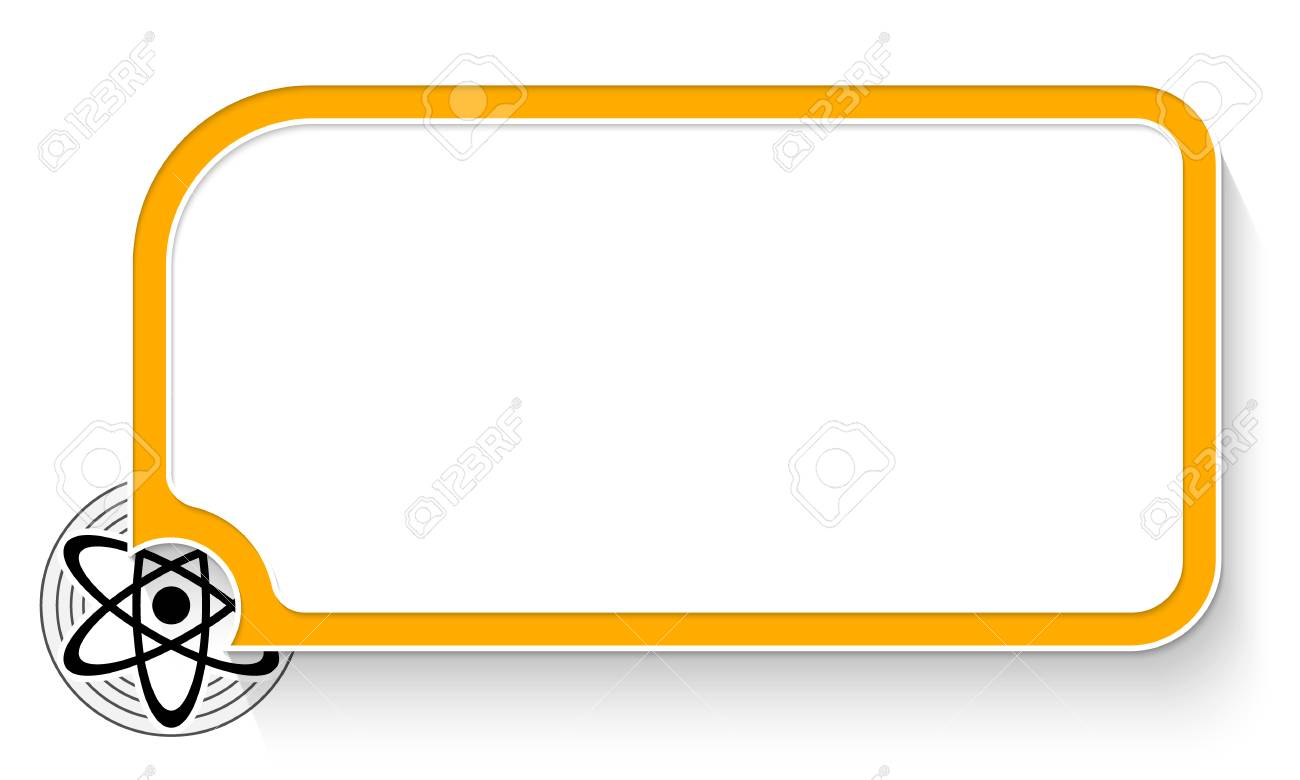 Yellow Text Box For Your Text And Science Symbol Royalty Free