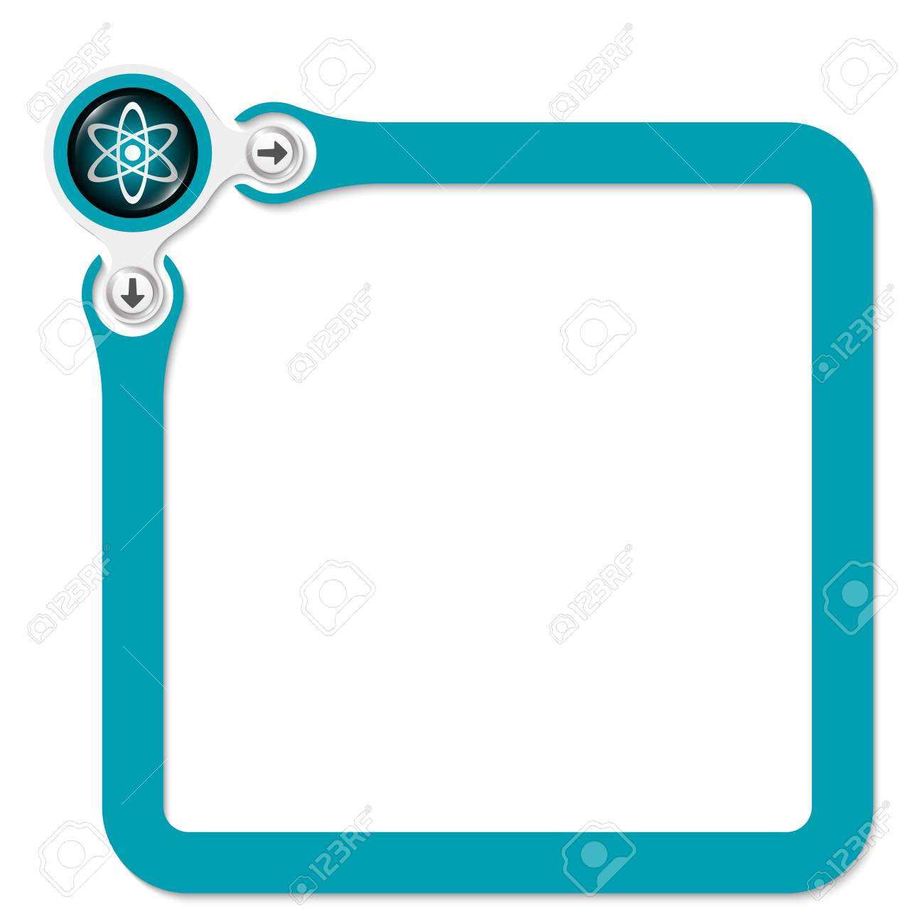 Green Frame For Your Text And Science Symbol Royalty Free Cliparts ...