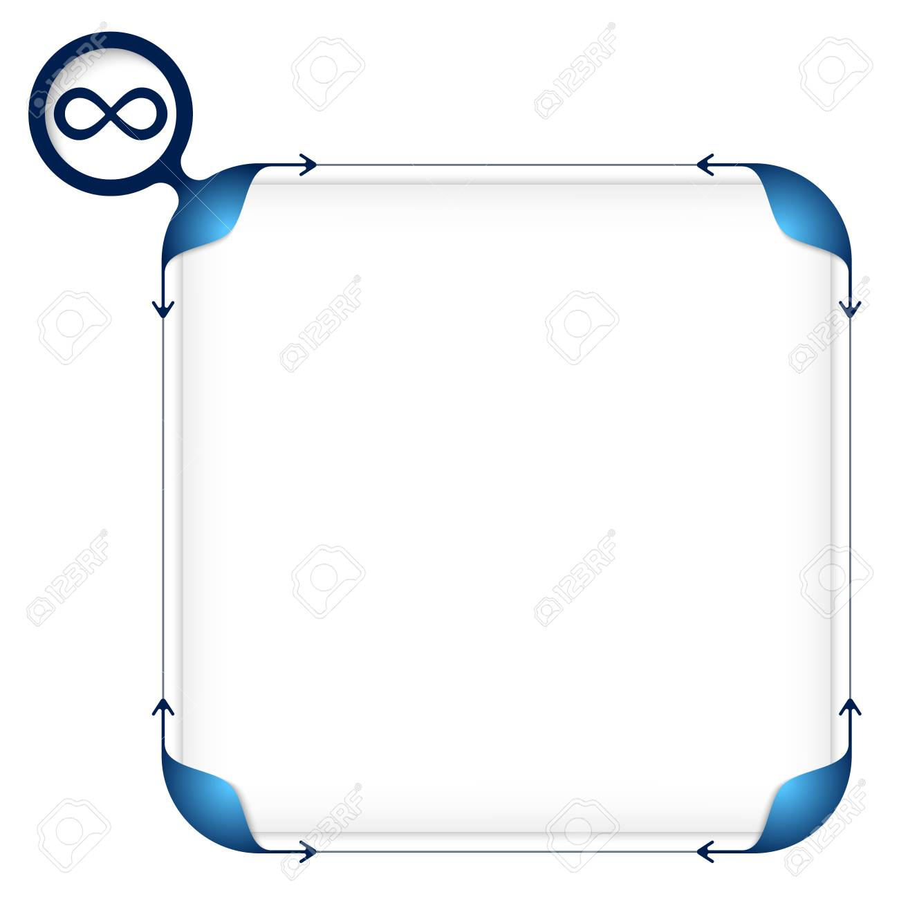 Text box to fill your text and infinity symbol royalty free text box to fill your text and infinity symbol stock vector 51318961 biocorpaavc