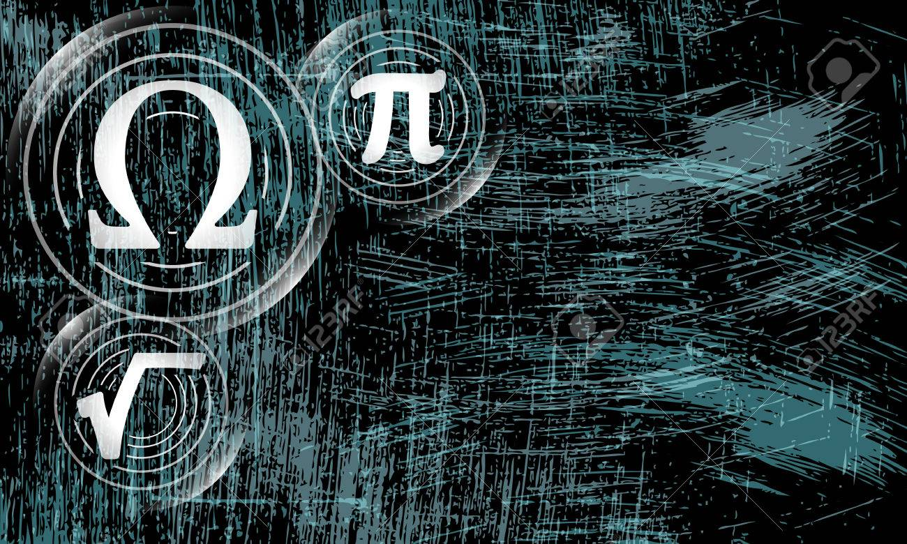 Vector Abstract Scratched Background And Math Symbols Royalty Free
