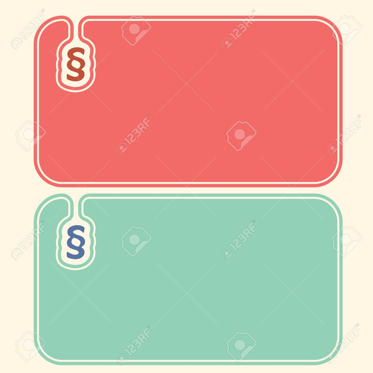 Colored Business Cards With Paragraph Royalty Free Cliparts, Vectors ...