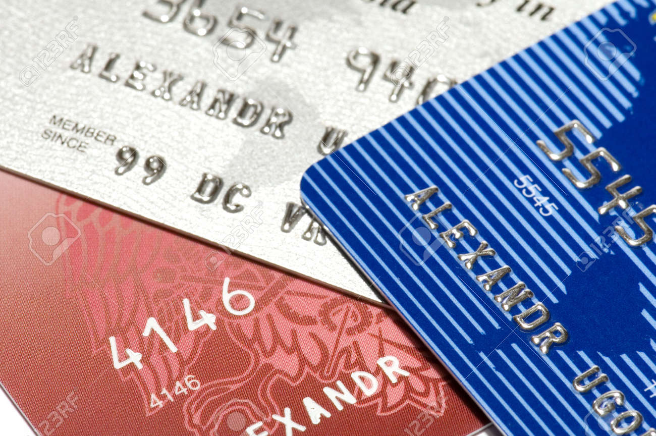 close up, number of credit card Stock Photo - 720340