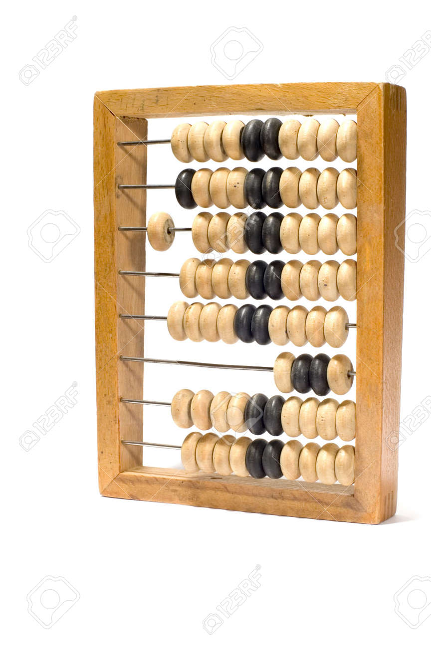 series object on white: isolated abacus Stock Photo - 764278