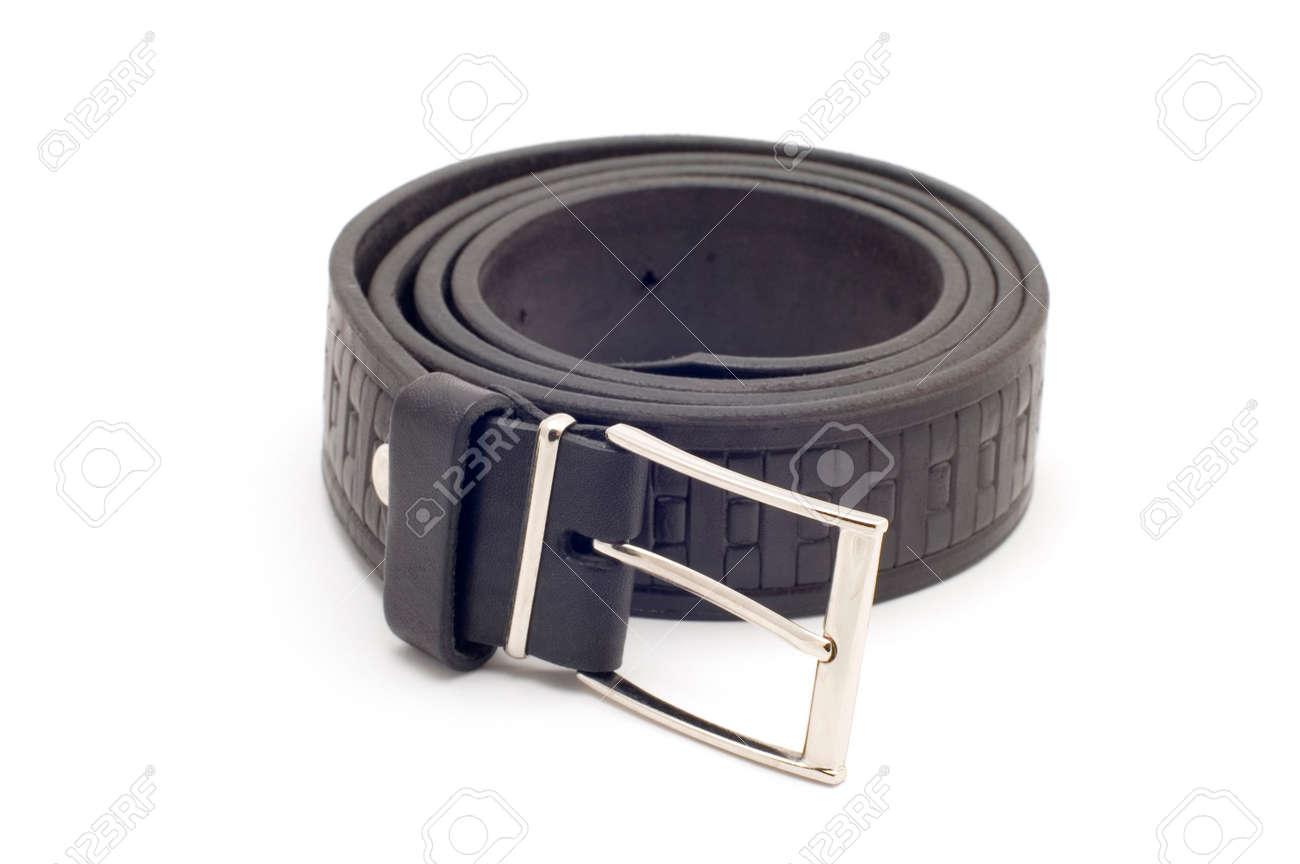Série objet sur fond blanc  isolé - Man s accessoire - ceinture Banque  d images 13900cb5147