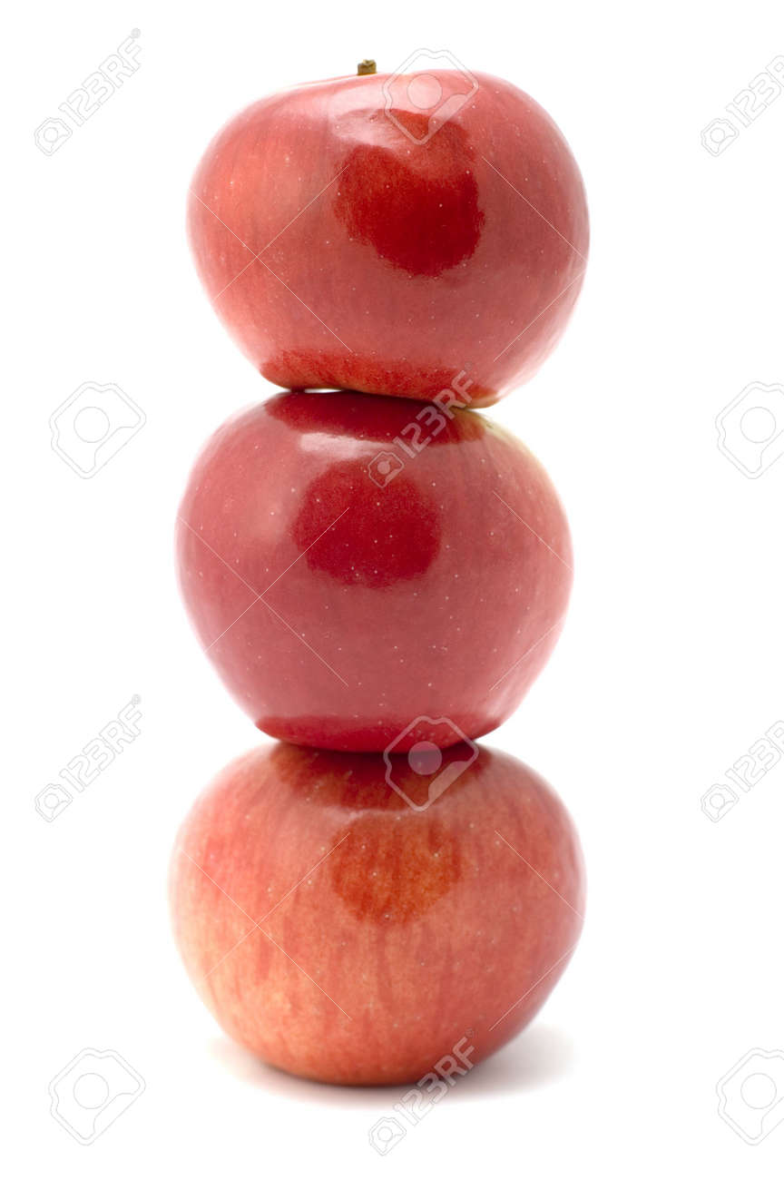 series object on white - fruit - column from apple Stock Photo - 1746051