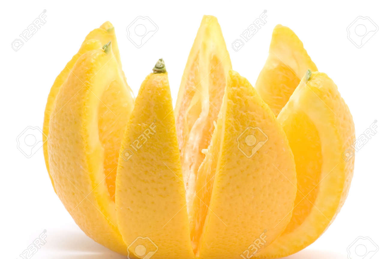 object on white - food -fruit -orange Stock Photo - 2197319