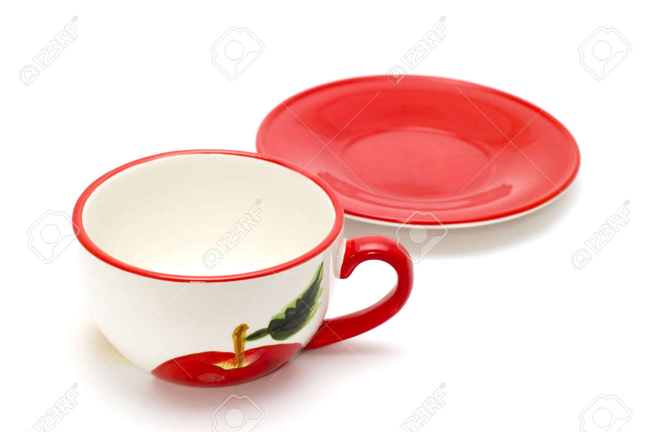 Objet De Cuisine #15: Banque Du0027images - Objet Sur Blanc - Ustensile De Cuisine - Tasse De Thé Et  Soucoupe