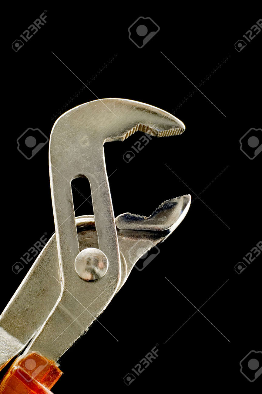 object on black - tool monkey wrench Stock Photo - 3148631
