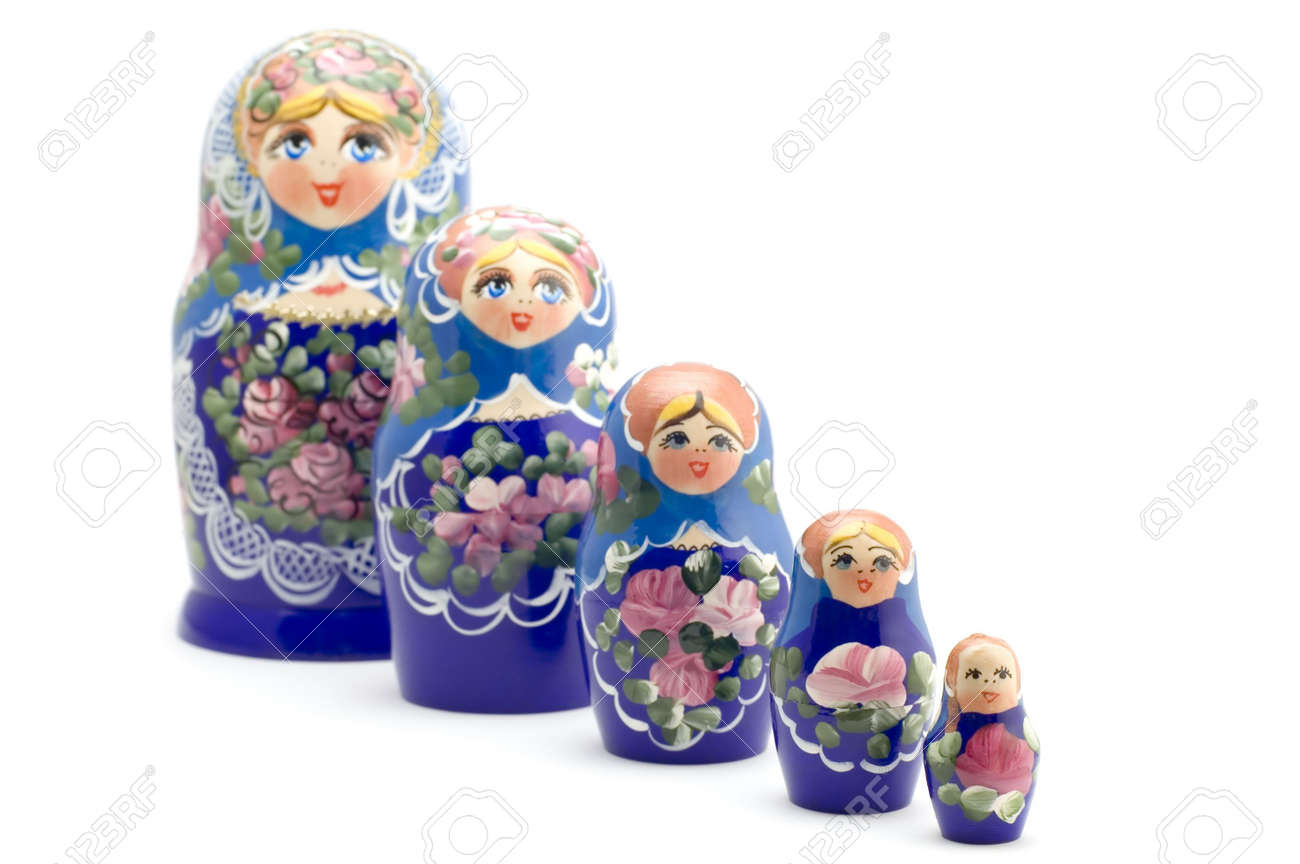 object on white - Russian national souvenir wood doll Stock Photo - 3356959