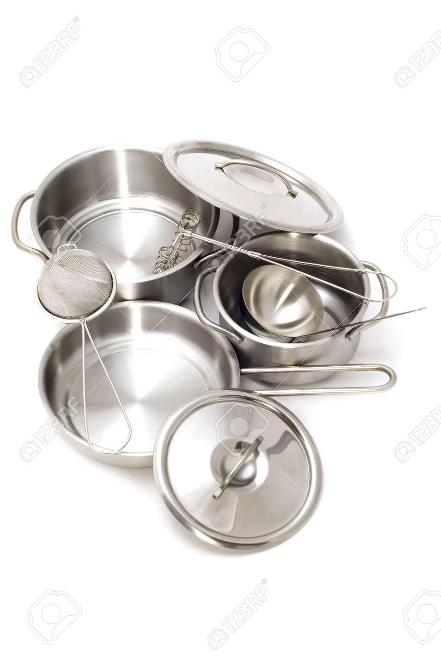 object on white - Metal kitchen utensil Stock Photo - 3393611