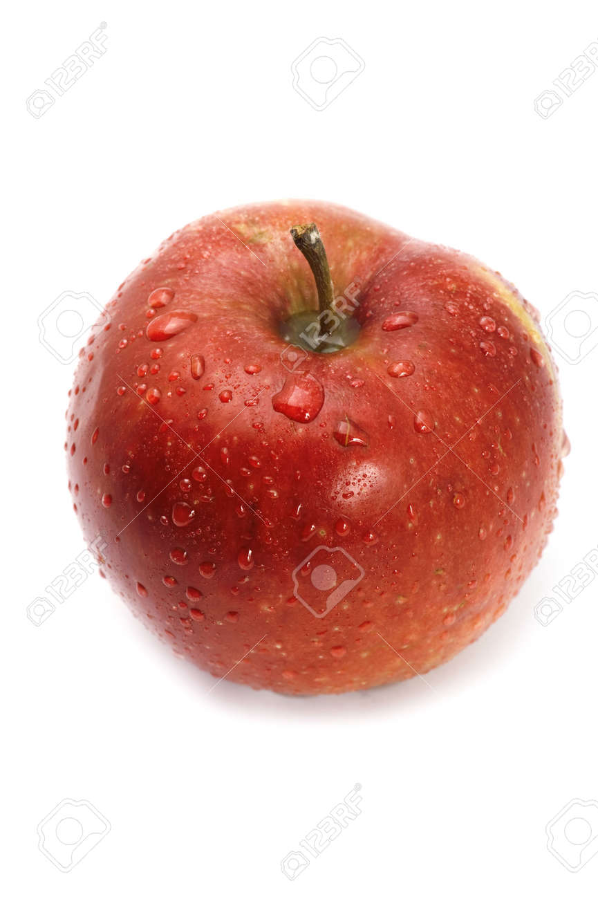 object on white - food Red apple Stock Photo - 4954882