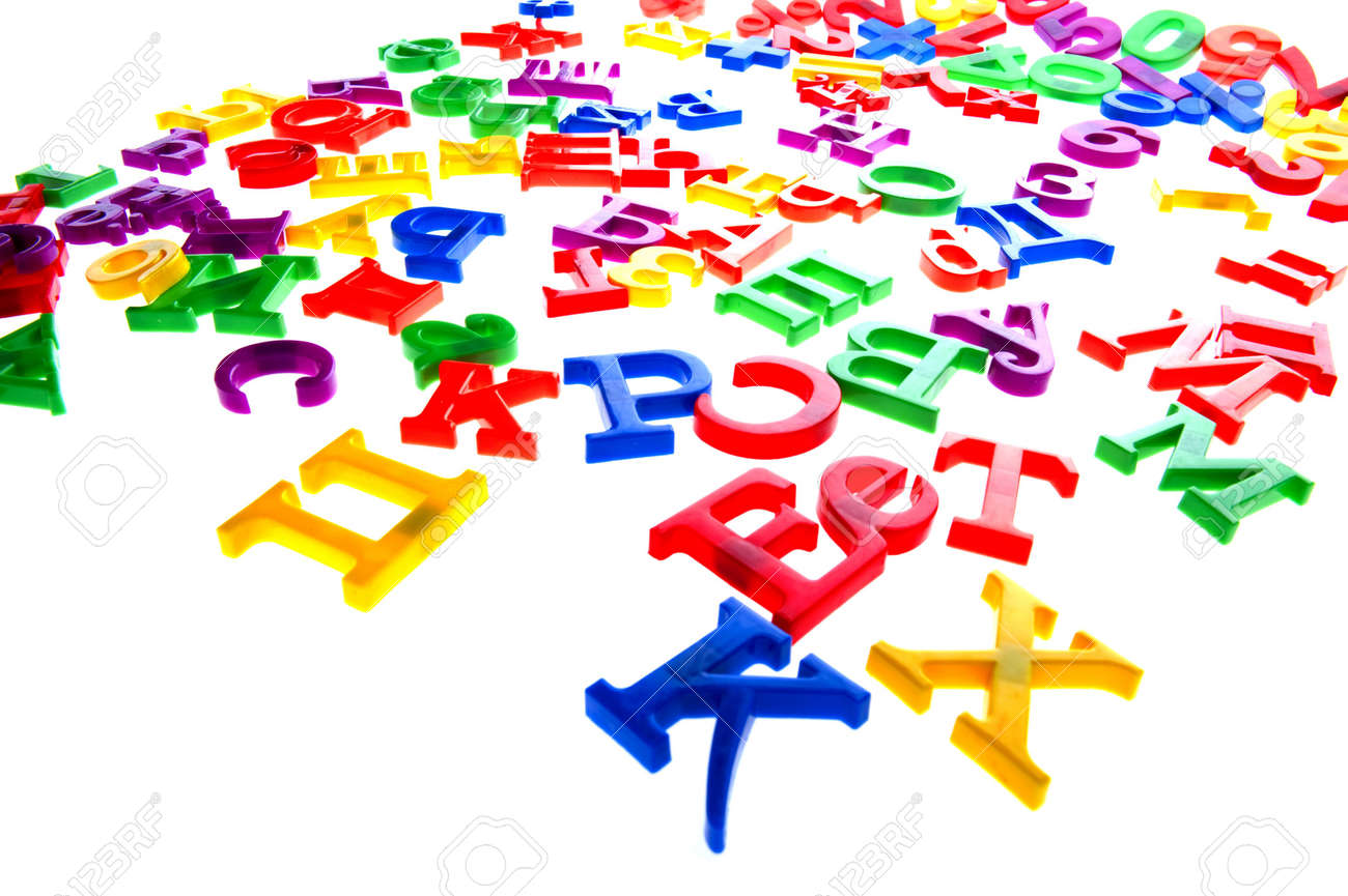 object on white - toy plastic letters and numbers Stock Photo - 6576763