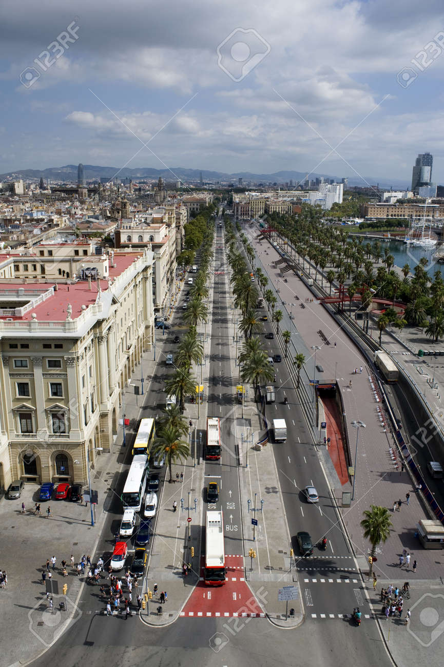 Country Spain View On The City Barcelona Stock Photo Picture And Royalty Free Image Image 7924034