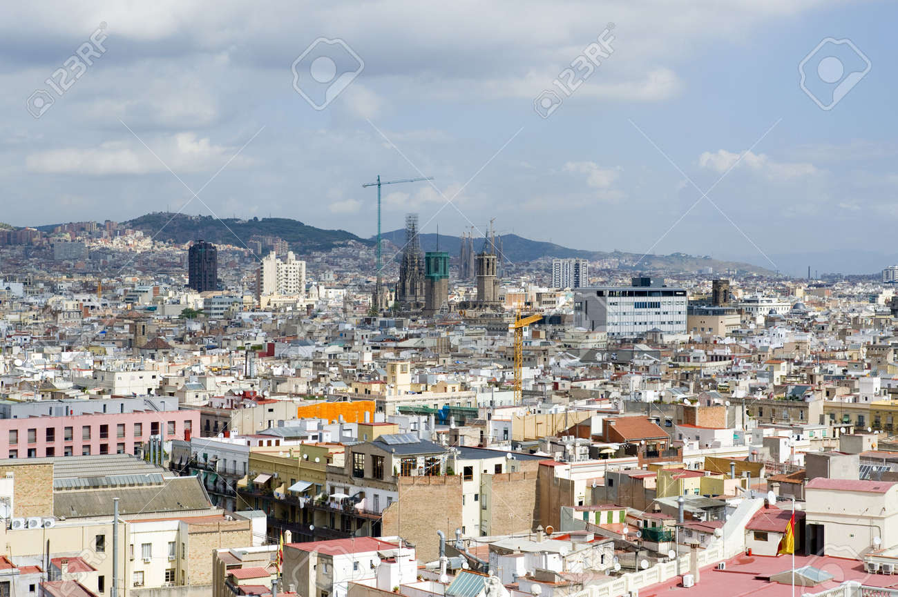 Country Spain View On The City Barcelona Stock Photo Picture And Royalty Free Image Image 7924031