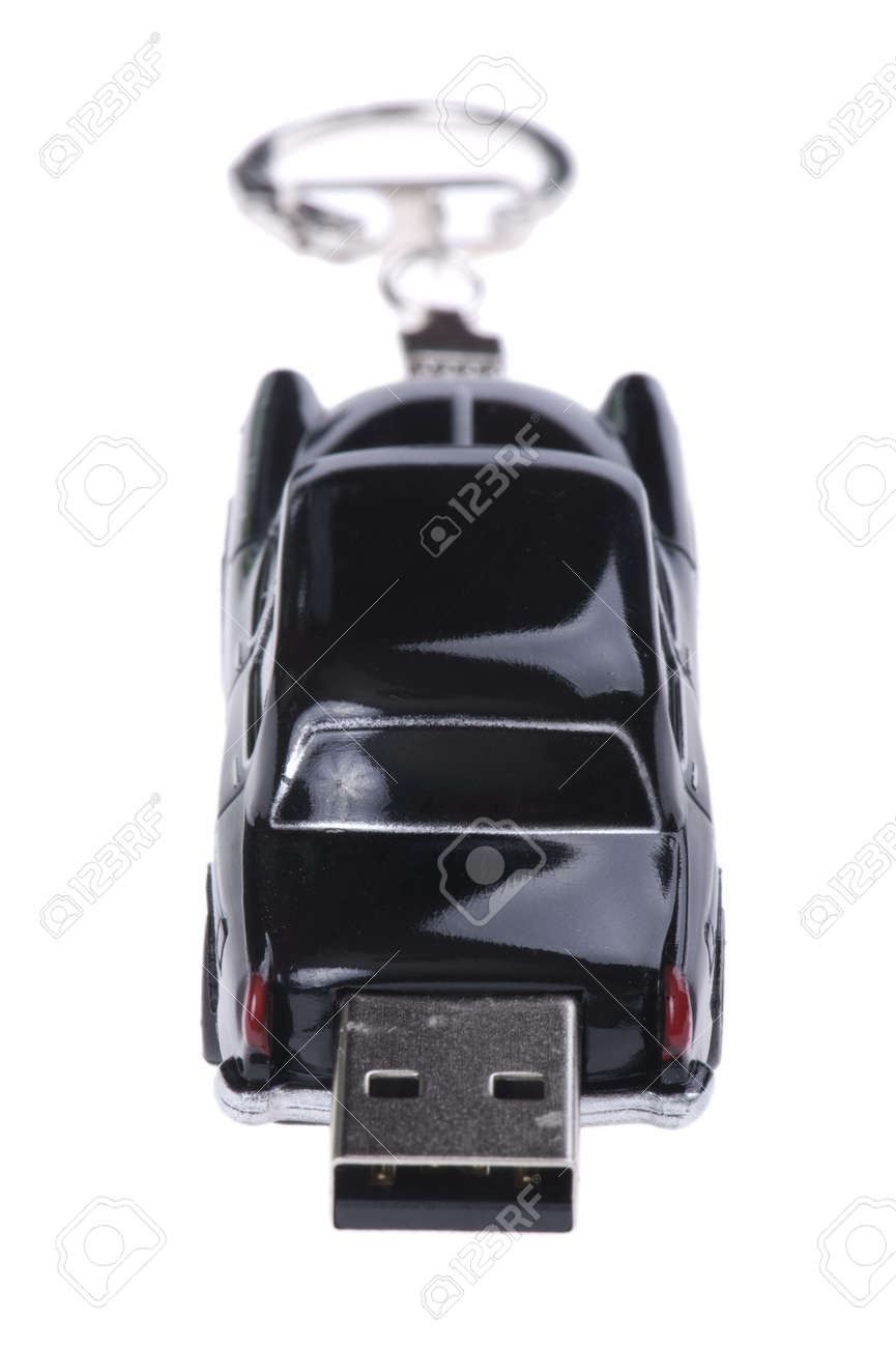 object on white - flash memory car close up Stock Photo - 7987722