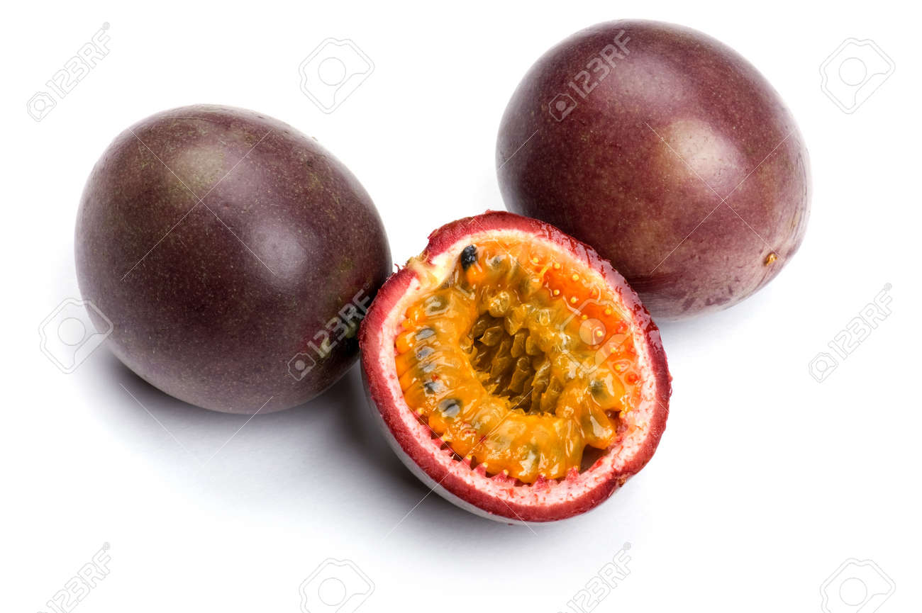 object on white - food Passionfruit close up Stock Photo - 8790361