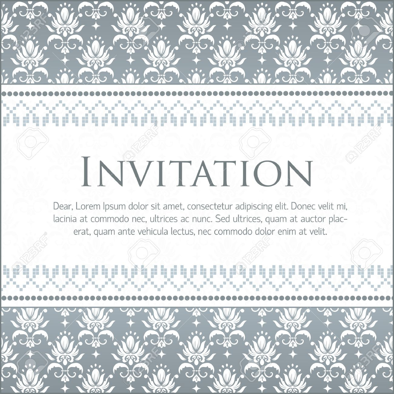 Vector invitation card with damask pattern royalty free cliparts vector vector invitation card with damask pattern stopboris Gallery