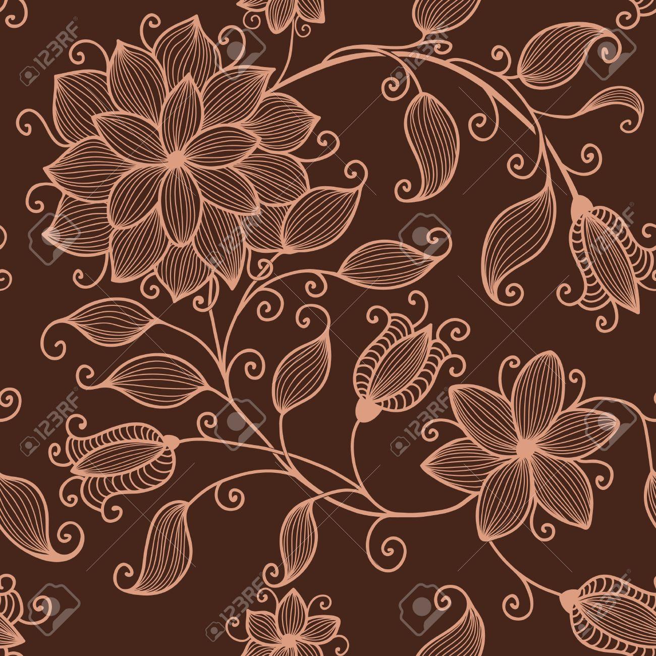 Vector flower seamless pattern element Stock Vector - 16161882