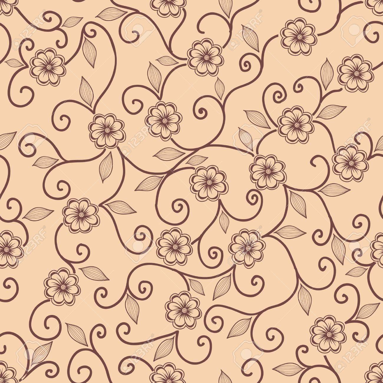 Vector flower seamless pattern element Stock Vector - 16811947