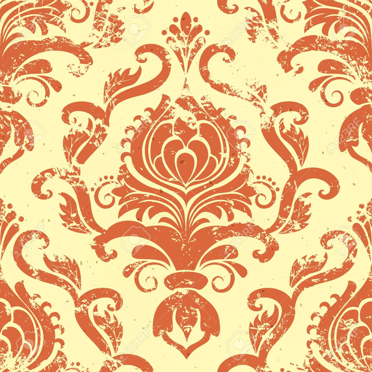 vintage damask seamless pattern element Stock Vector - 17007608