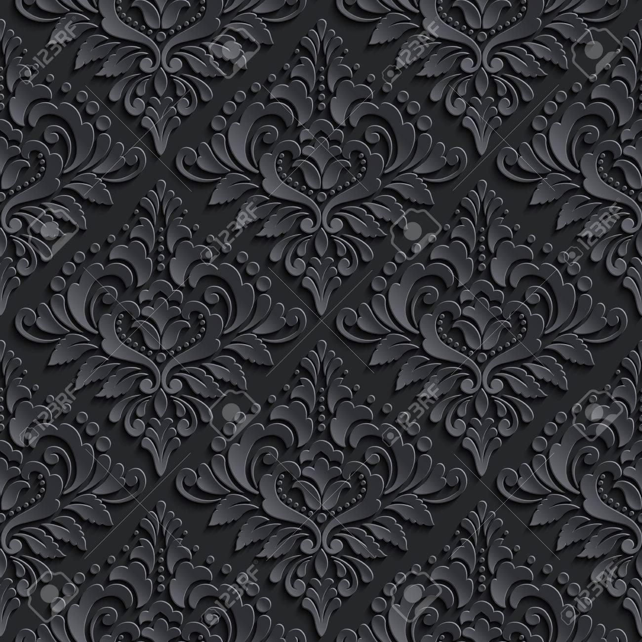 Vector Damask Seamless Pattern Background Elegant Luxury Texture