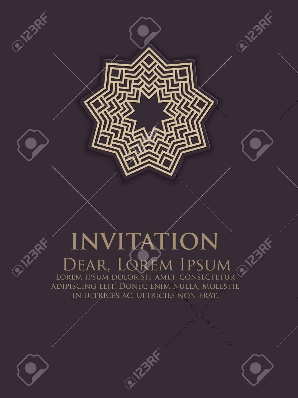 NVITATION Cartes Avec Des Elements Ethniques Arabesque Conception