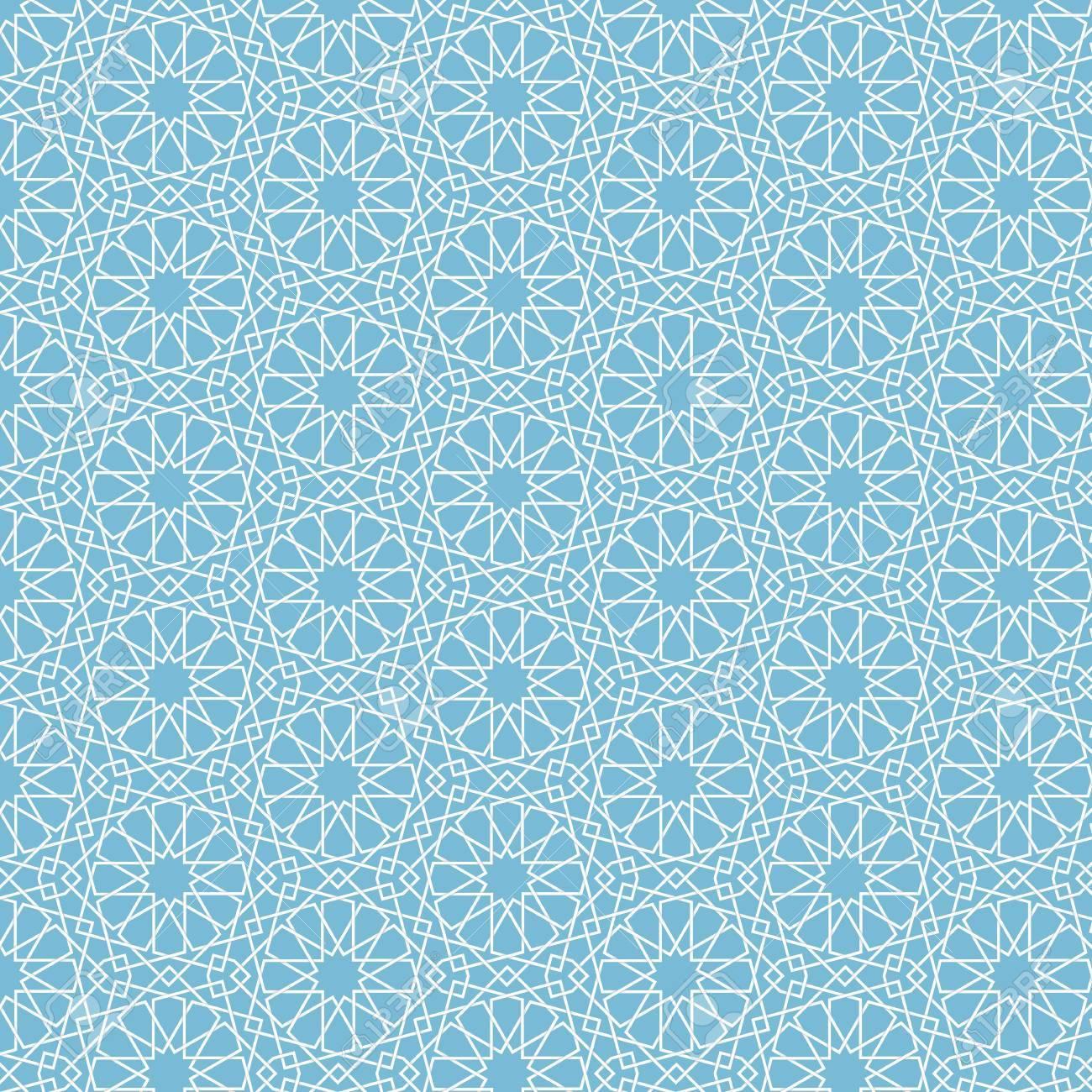 Vector Abstract Geometric Islamic Background Based On Ethnic