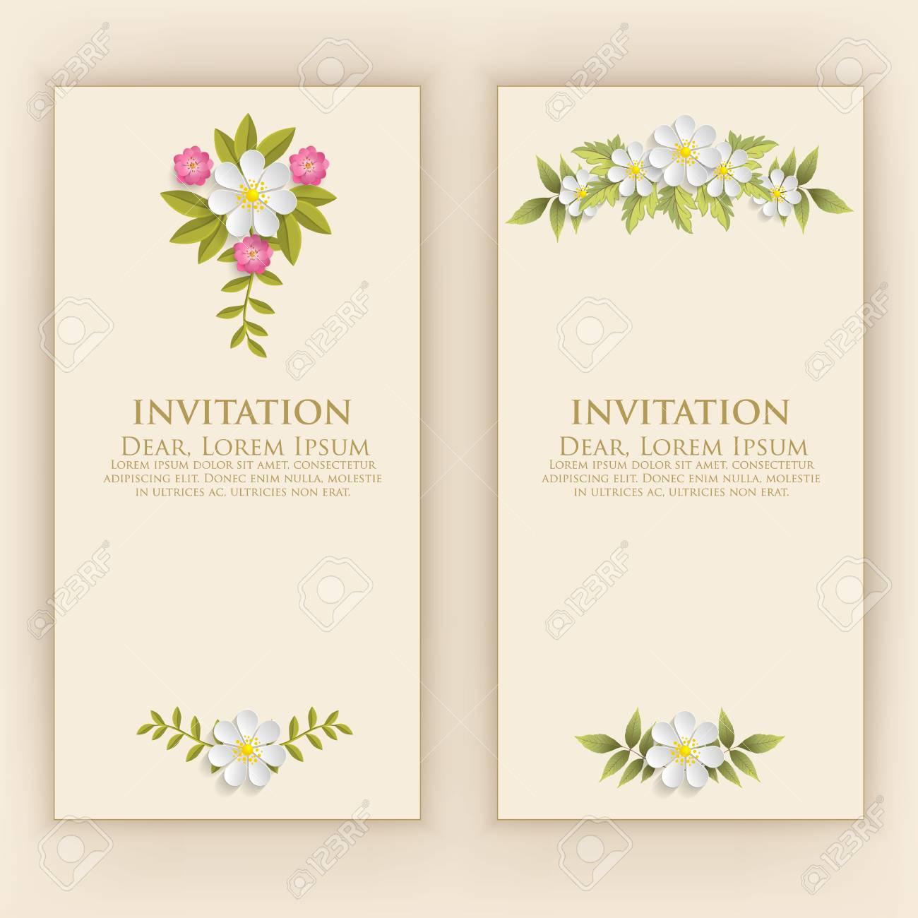 Wedding Invitation Card Vector Invitation Card With Elegant
