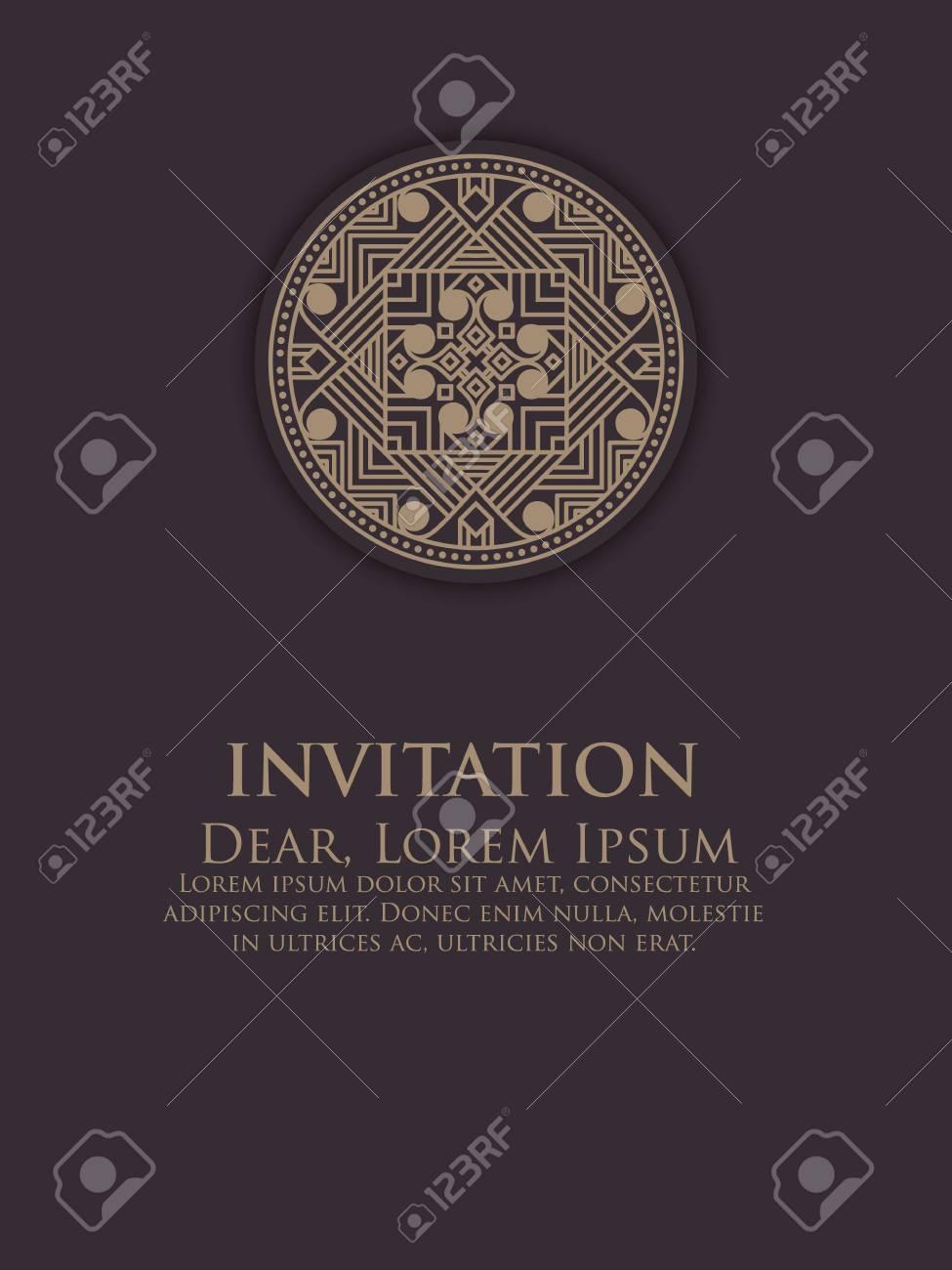 Invitation Cartes Avec Des Elements Arabesques Ethniques