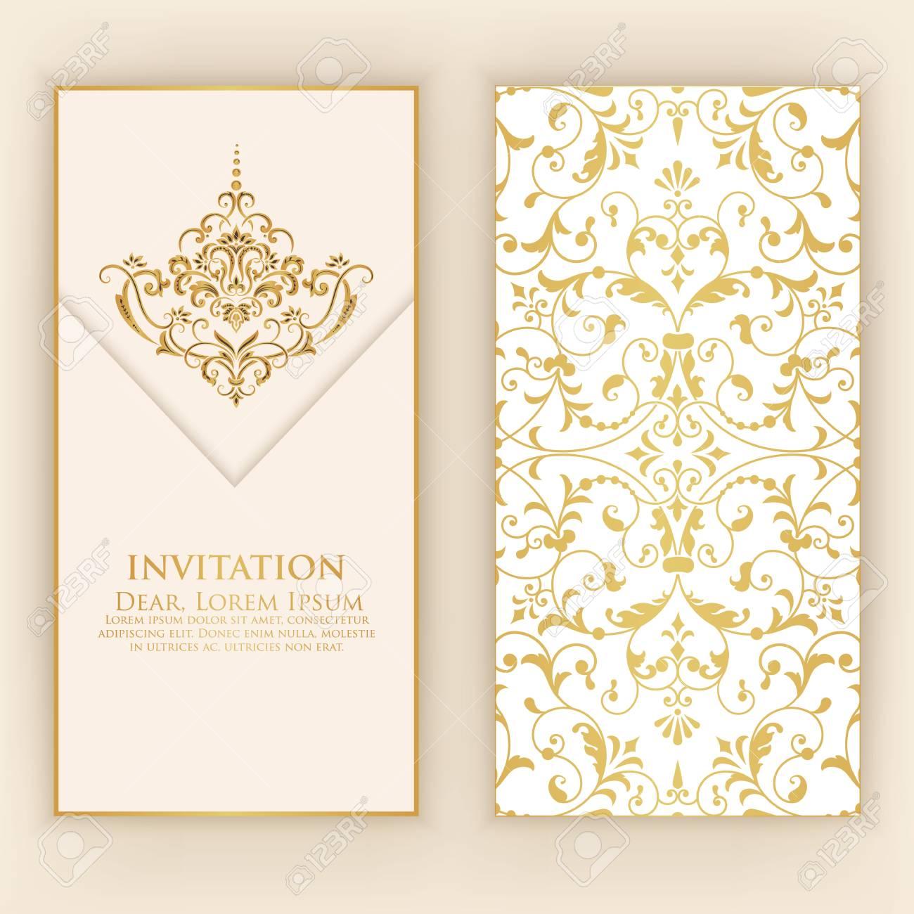 Invitation Cartes Avec Des Lments Arabesques Ethniques