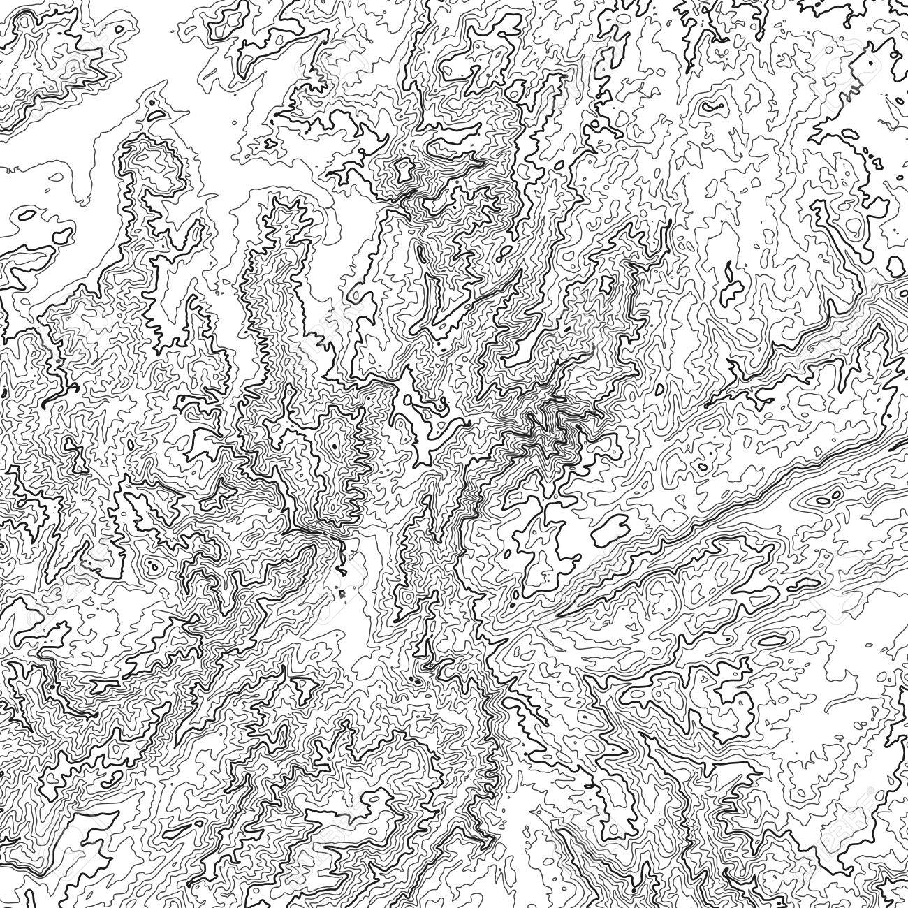 Vector abstract grayscale earth relief map  Generated conceptual