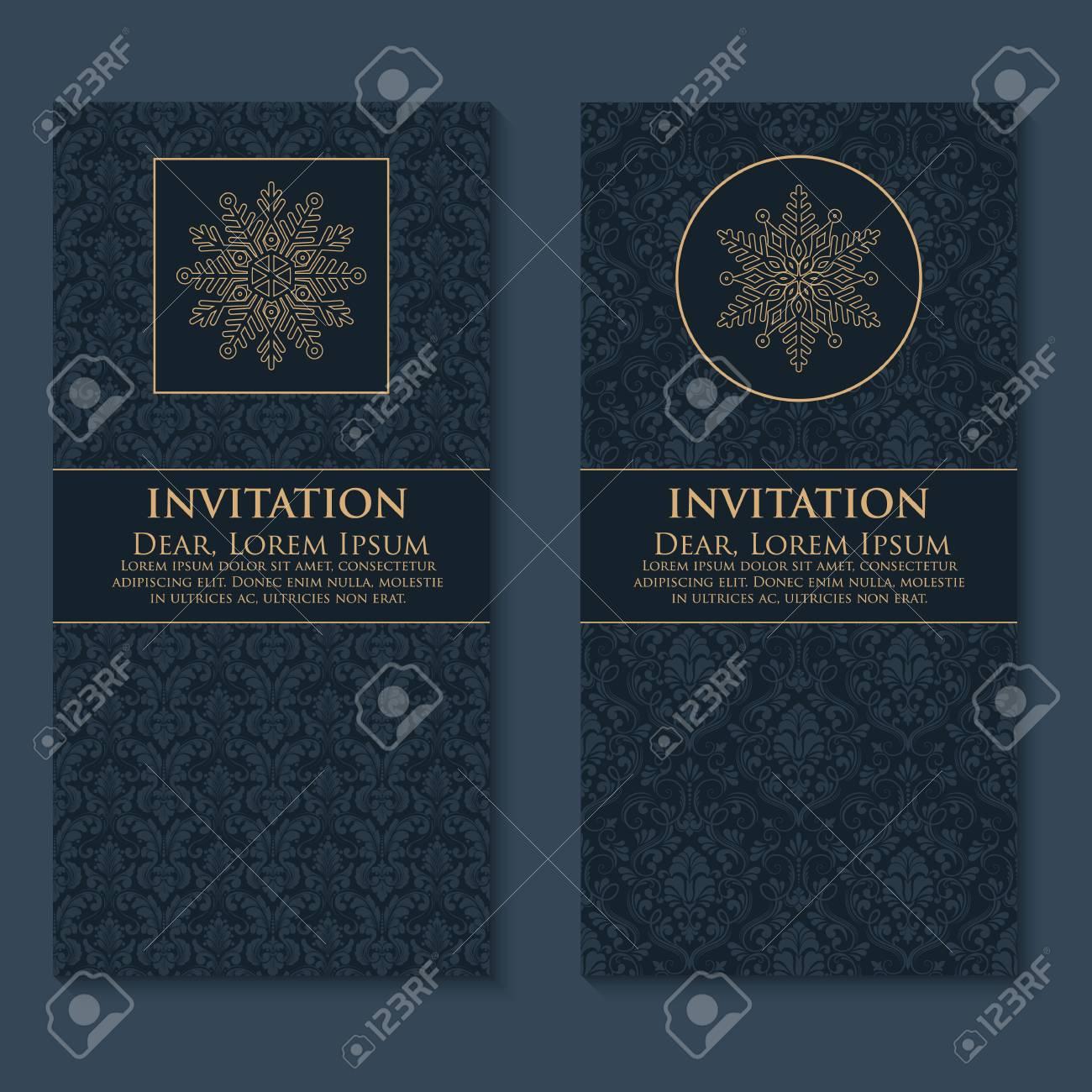 Invitation De Vecteur Cartes Avec Des Elements Ethniques Arabesques