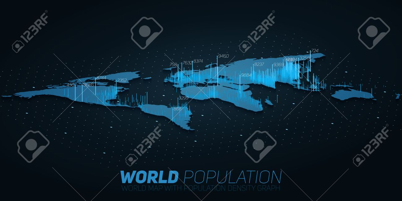 World population map big data visualization futuristic map vector world population map big data visualization futuristic map infographic information aesthetics visual data complexity gumiabroncs Image collections