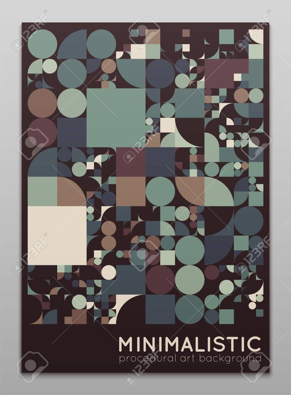 Vector minimal covers procedural design  Futuristic abstract