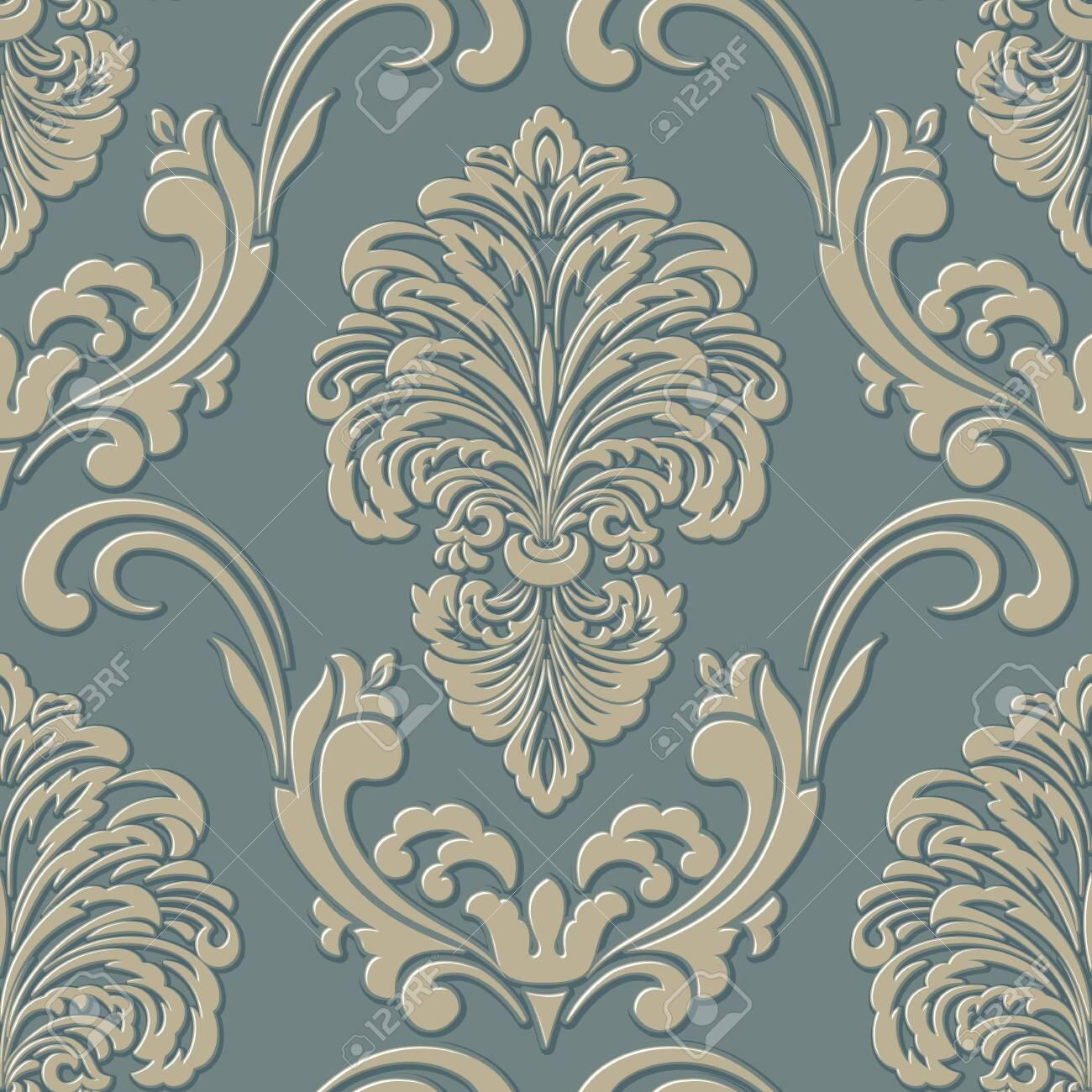 damask seamless pattern background. Classical luxury old fashioned damask ornament. - 126629788