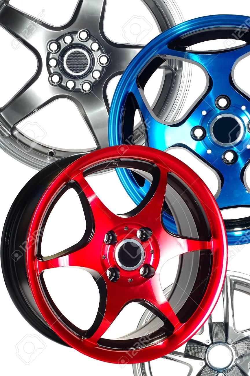 Detail of beauty design of Sport Car Wheel Stock Photo - 6884257