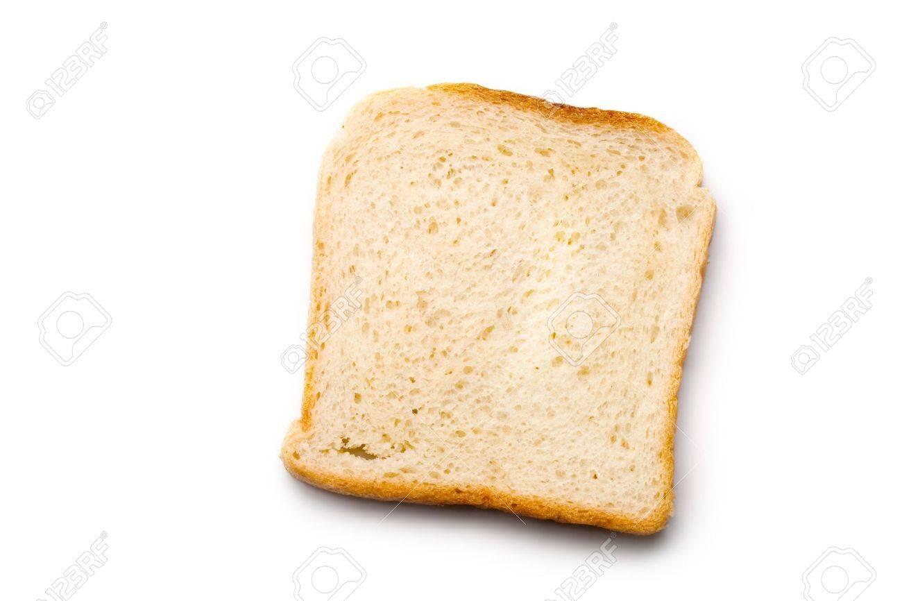 Bread slice isolated on white Stock Photo - 8213371